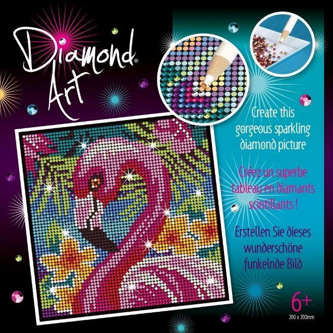 Diamond Art Flamingo craft kit