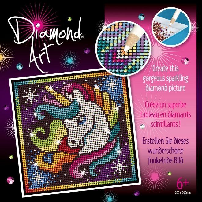 Diamond Art Unicorn craft kit for kids