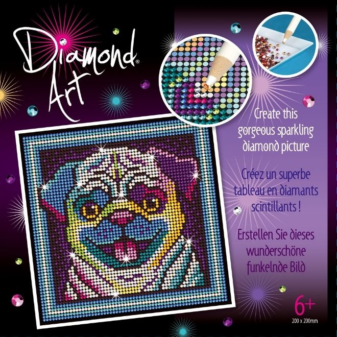 Diamond Art Pug craft project