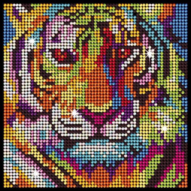 Diamond Art Tiger creative activity