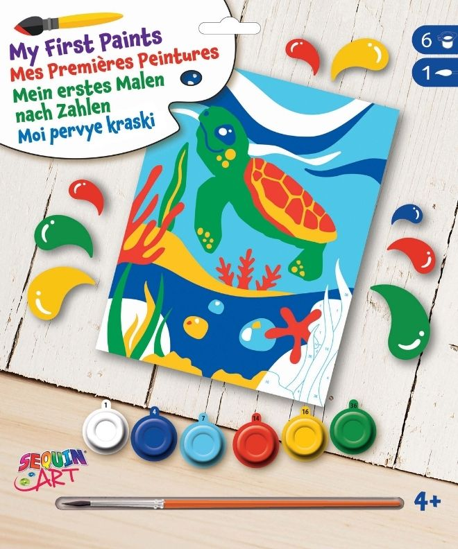 Paint by numbers Turtle picture for kids
