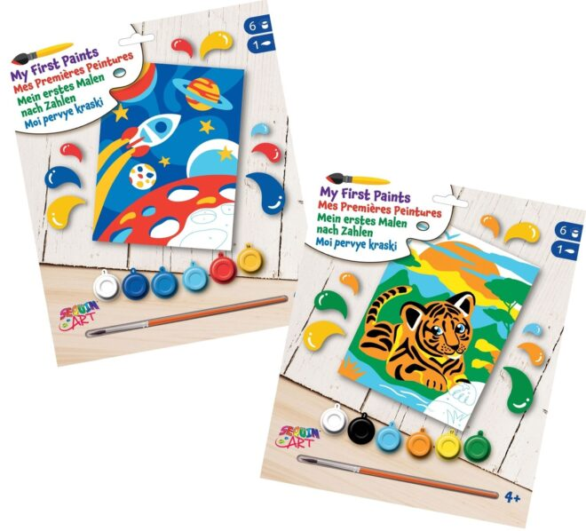 paint by numbers bundle - space and tiger