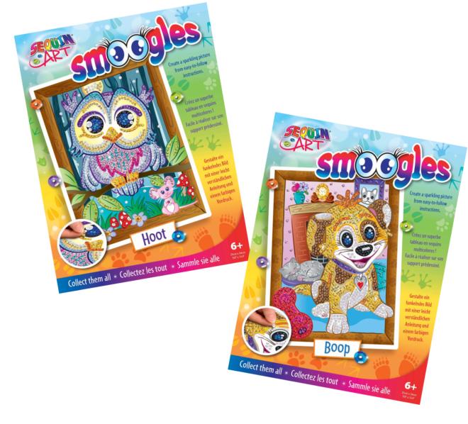 Sequin Art Smoogles bundle - Puppy Boop & Owl Hoot