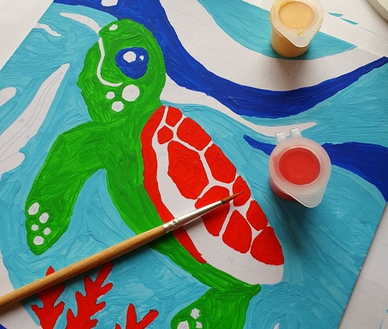 A fun creative painting by numbers activity for kids