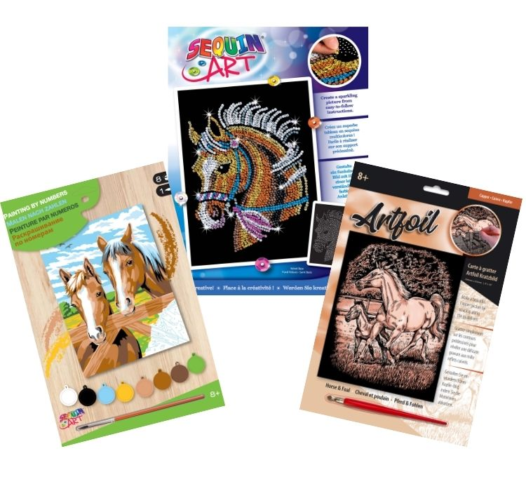 Horses gift set bundle features three craft projects
