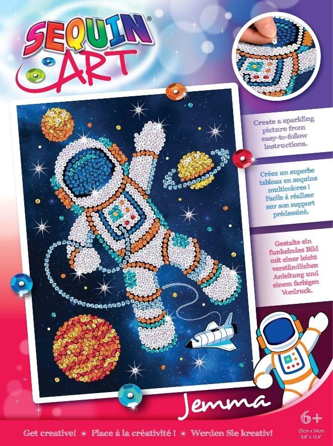 Sequin Art Jemma Astronaut craft kit