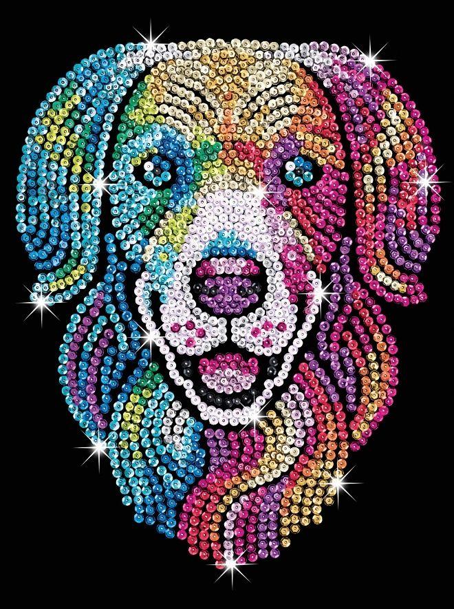 Sequin Art Harlequin Hound Labrador craft kit