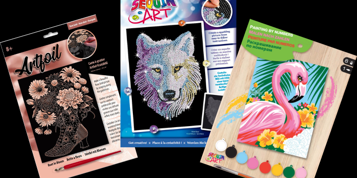 Sequin Art craft kits made in UK