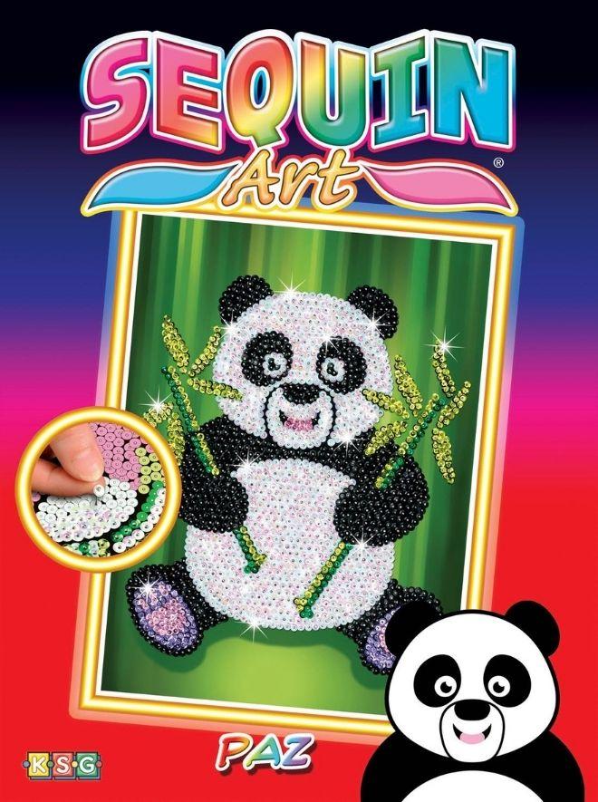 Sequin Art Paz Panda creative activity for children and kids