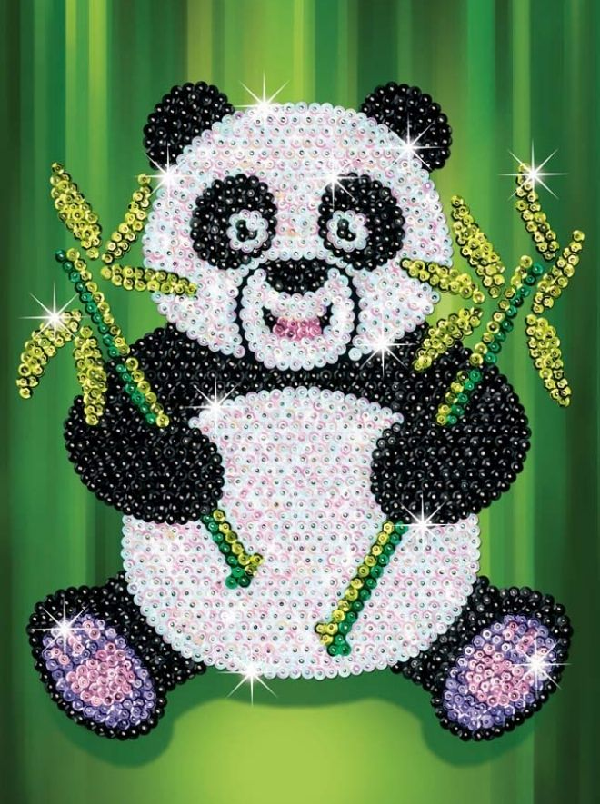 Sequin Art Paz Panda crafts for kids and adults