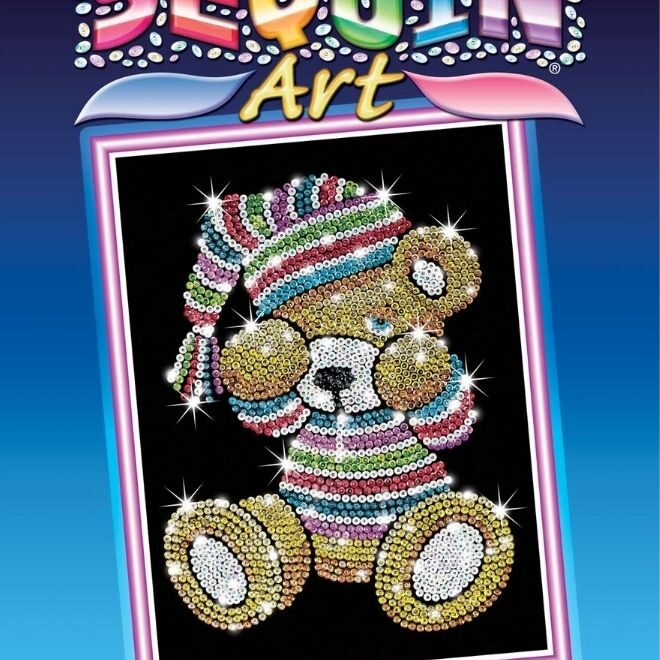 Sequin Art Teddy craft kit for children and adults