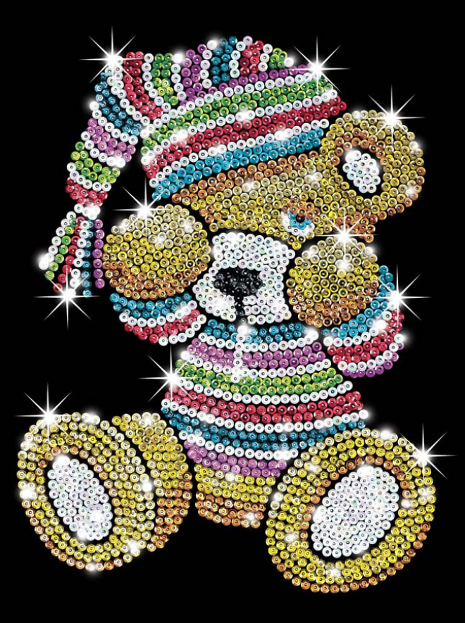 Adorable Teddy craft kit from the Sequin Art Blue range
